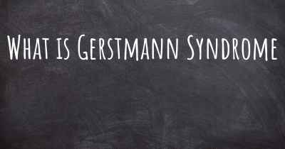 What is Gerstmann Syndrome