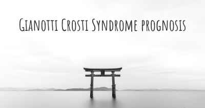 Gianotti Crosti Syndrome prognosis