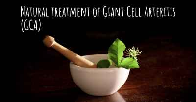 Natural treatment of Giant Cell Arteritis (GCA)