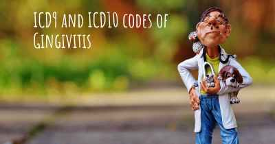 ICD9 and ICD10 codes of Gingivitis