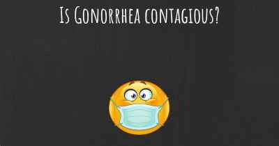 Is Gonorrhea contagious?