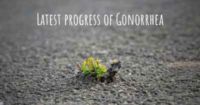Latest progress of Gonorrhea