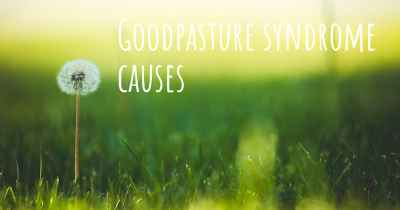 Goodpasture syndrome causes