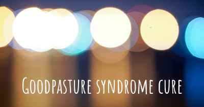 Goodpasture syndrome cure