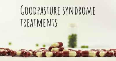 Goodpasture syndrome treatments