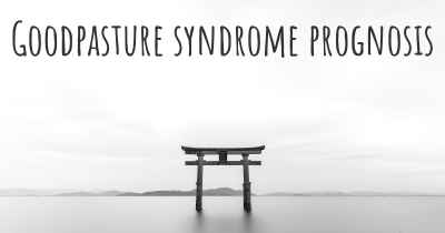 Goodpasture syndrome prognosis