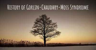 History of Gorlin-Chaudhry-Moss Syndrome