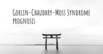 Gorlin-Chaudhry-Moss Syndrome prognosis