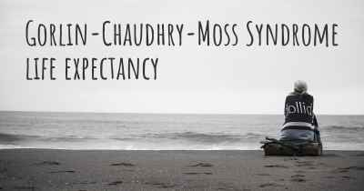 Gorlin-Chaudhry-Moss Syndrome life expectancy