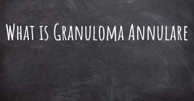 What is Granuloma Annulare