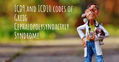 ICD9 and ICD10 codes of Greig Cephalopolysyndactyly Syndrome