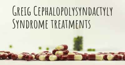 Greig Cephalopolysyndactyly Syndrome treatments