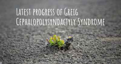 Latest progress of Greig Cephalopolysyndactyly Syndrome