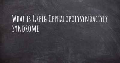 What is Greig Cephalopolysyndactyly Syndrome
