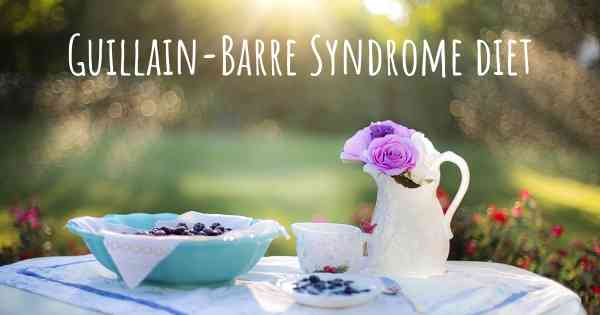 Guillain-Barre Syndrome diet