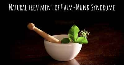 Natural treatment of Haim-Munk Syndrome