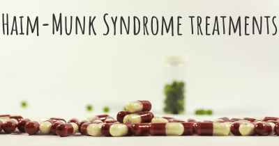 Haim-Munk Syndrome treatments