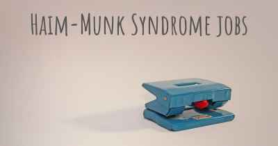 Haim-Munk Syndrome jobs
