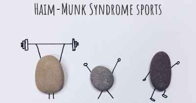 Haim-Munk Syndrome sports