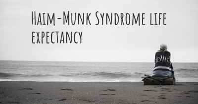 Haim-Munk Syndrome life expectancy