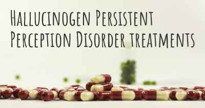 Hallucinogen Persistent Perception Disorder treatments