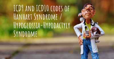 ICD9 and ICD10 codes of Hanhart Syndrome / Hypoglossia-Hypodactyly Syndrome