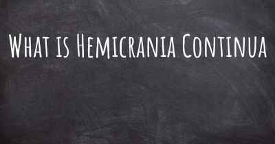 What is Hemicrania Continua
