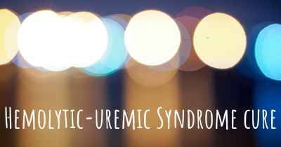 Hemolytic-uremic Syndrome cure