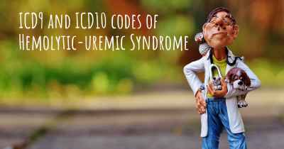 ICD9 and ICD10 codes of Hemolytic-uremic Syndrome