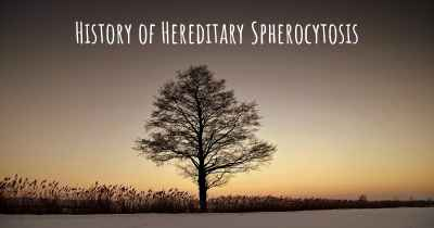 History of Hereditary Spherocytosis