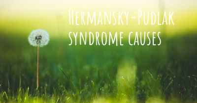 Hermansky-Pudlak syndrome causes
