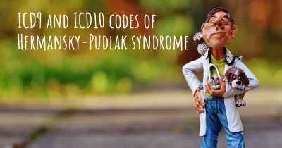 ICD9 and ICD10 codes of Hermansky-Pudlak syndrome