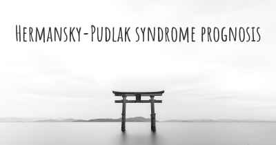 Hermansky-Pudlak syndrome prognosis