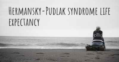 Hermansky-Pudlak syndrome life expectancy