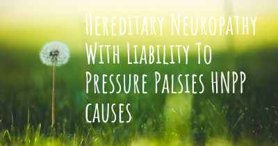 Hereditary Neuropathy With Liability To Pressure Palsies HNPP causes