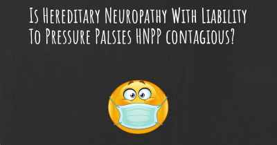 Is Hereditary Neuropathy With Liability To Pressure Palsies HNPP contagious?
