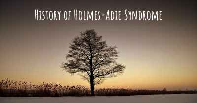 History of Holmes-Adie Syndrome