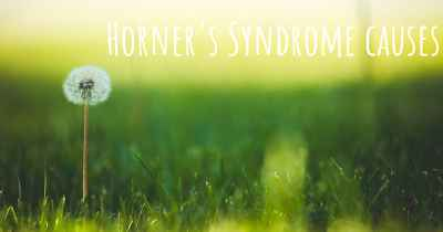 Horner's Syndrome causes