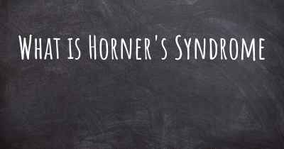 What is Horner's Syndrome