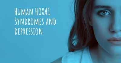 Human HOXA1 Syndromes and depression