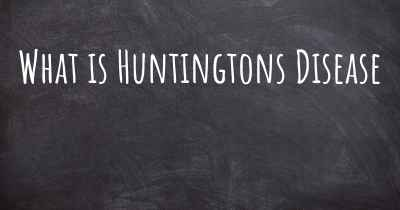 What is Huntingtons Disease