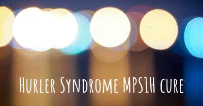 Hurler Syndrome MPS1H cure