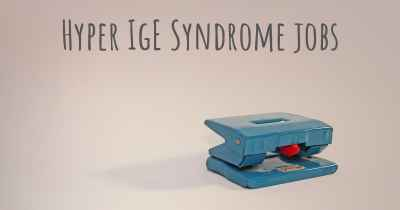 Hyper IgE Syndrome jobs