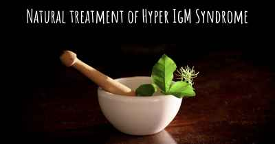 Natural treatment of Hyper IgM Syndrome