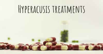 Hyperacusis treatments