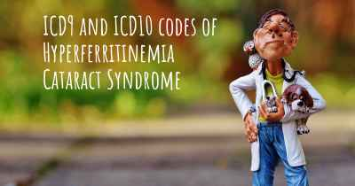 ICD9 and ICD10 codes of Hyperferritinemia Cataract Syndrome