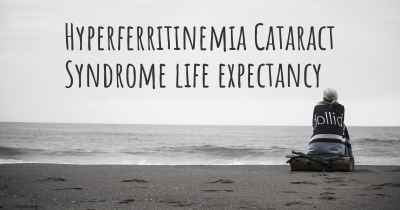 Hyperferritinemia Cataract Syndrome life expectancy