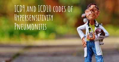 ICD9 and ICD10 codes of Hypersensitivity Pneumonitis