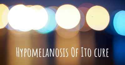 Hypomelanosis Of Ito cure