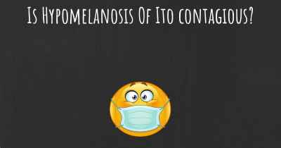 Is Hypomelanosis Of Ito contagious?